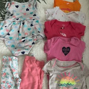 8 pieces jumping beans/Carters 6 month girls